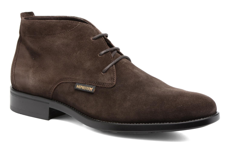 Chaussures à lacets Mephisto Claudio Marron vue détail/paire