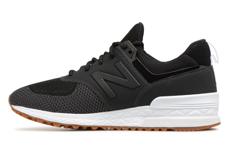 Sneakers New Balance MS574 Zwart voorkant