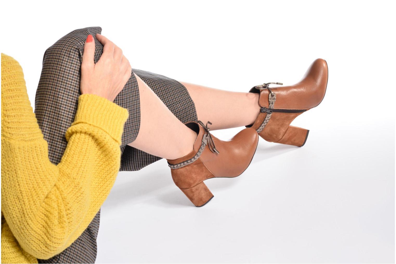 Bottines et boots Georgia Rose Latressa Noir vue bas / vue portée sac