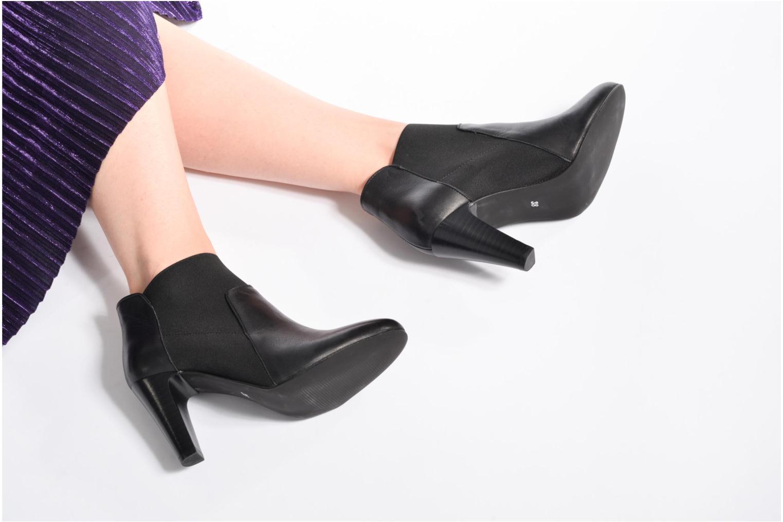 Bottines et boots Georgia Rose Lastic Noir vue bas / vue portée sac