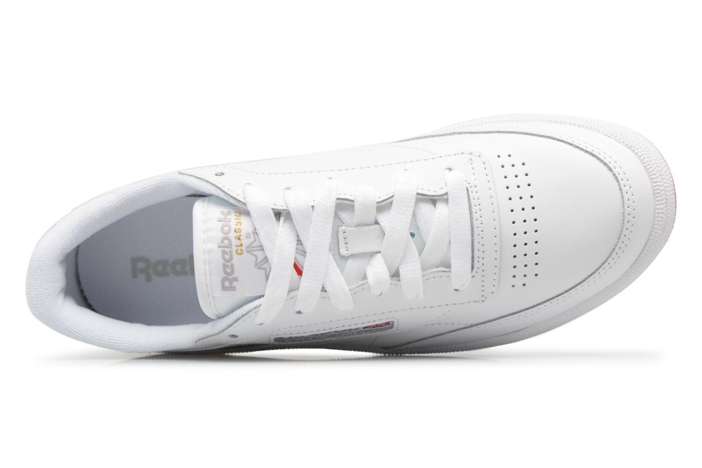 Baskets Reebok Club C 85 W Blanc vue gauche
