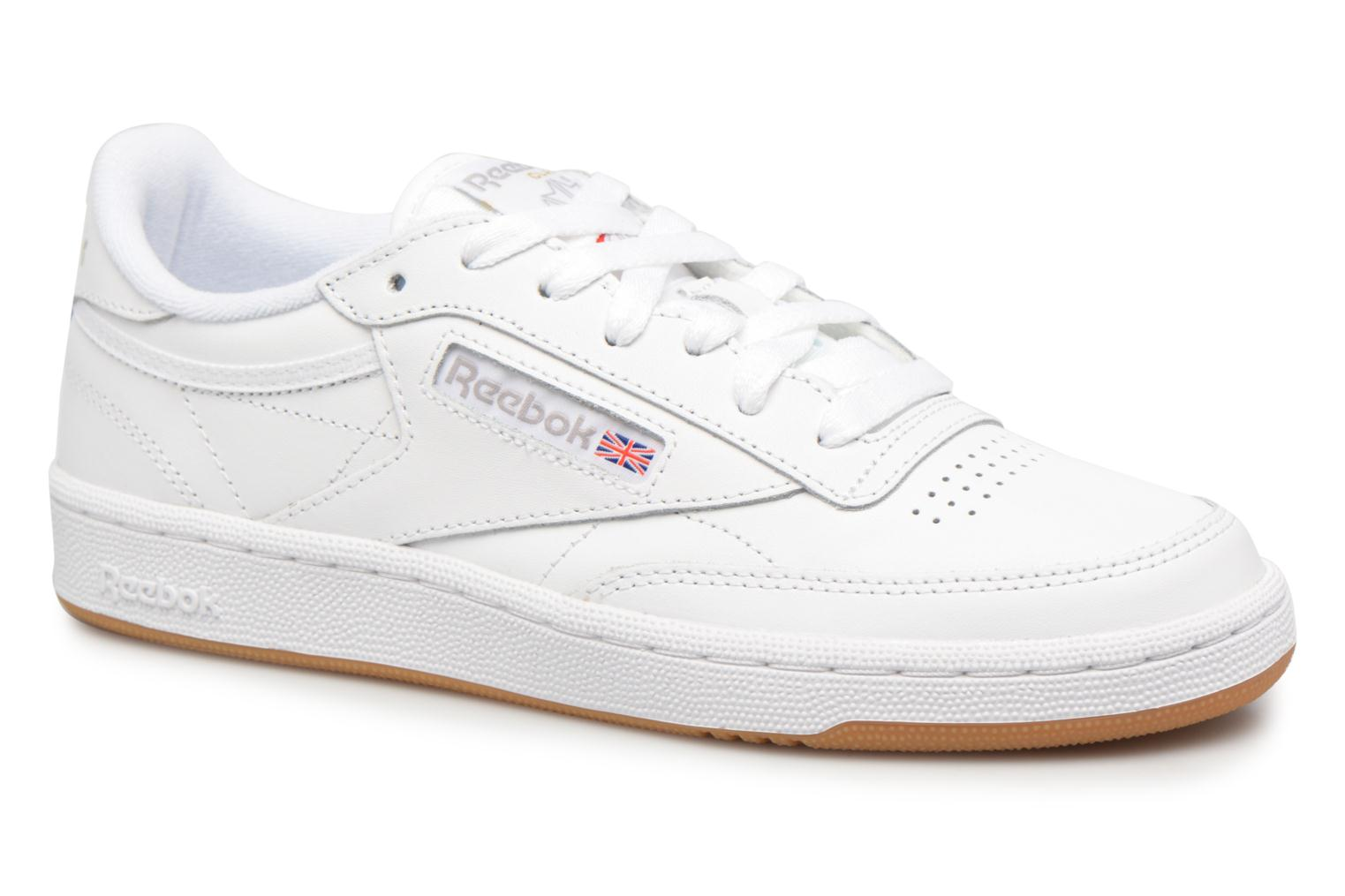 Club C85 W White/Light Grey/Gum
