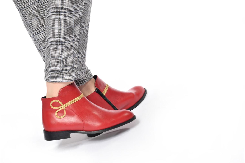 Bottines et boots Made by SARENZA Boots Camp #18 Rouge vue bas / vue portée sac