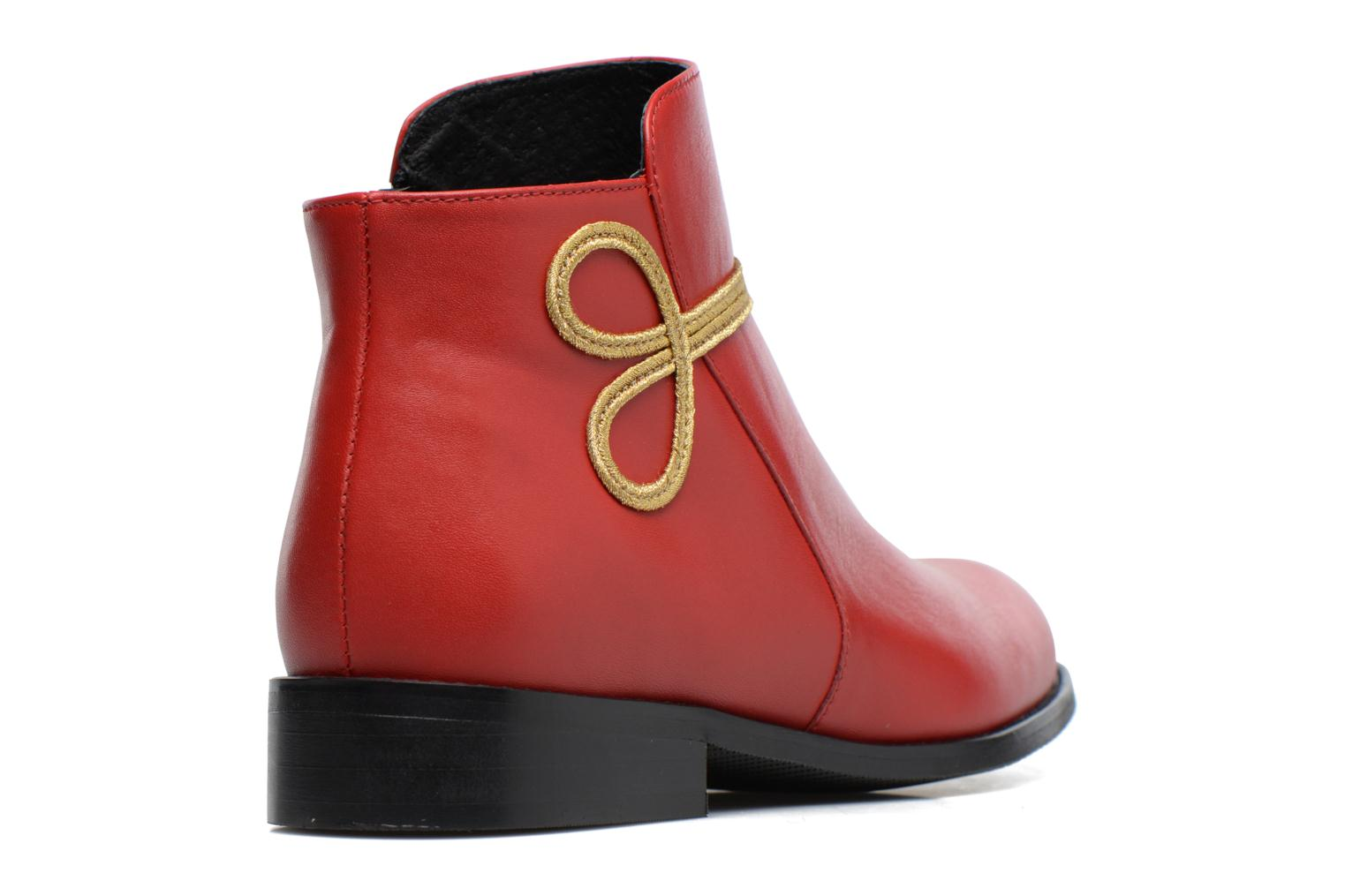 Boots Camp #18 cuir lisse rouge
