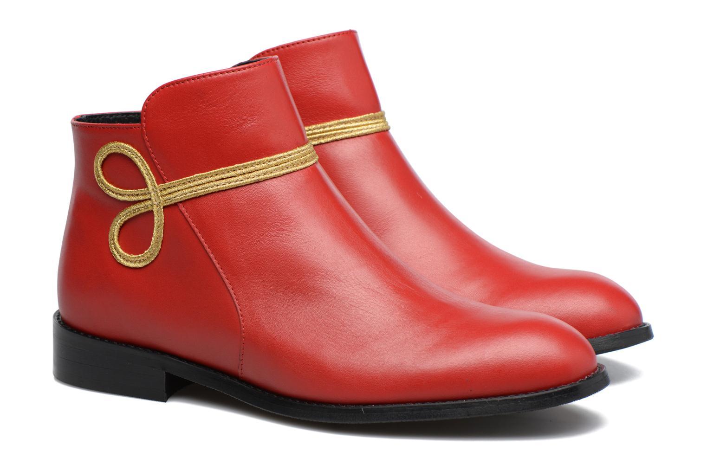 Bottines et boots Made by SARENZA Boots Camp #18 Rouge vue derrière