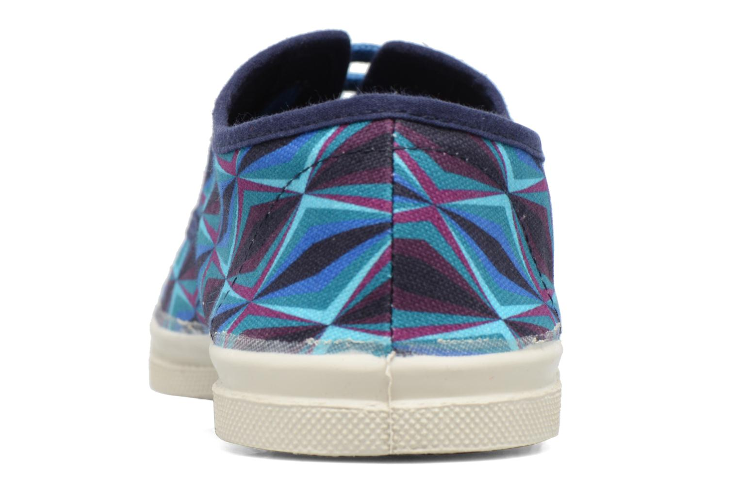 Trainers Bensimon Tennis Losanges Blue view from the right