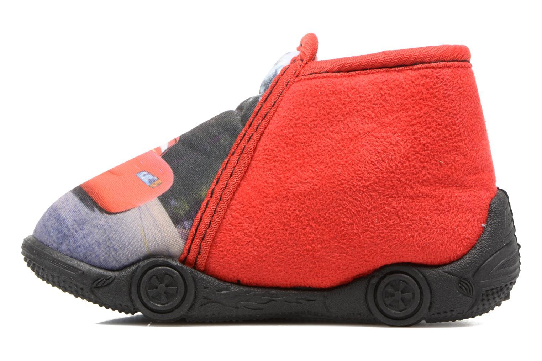 Chaussons Cars Rubanier Rouge vue face