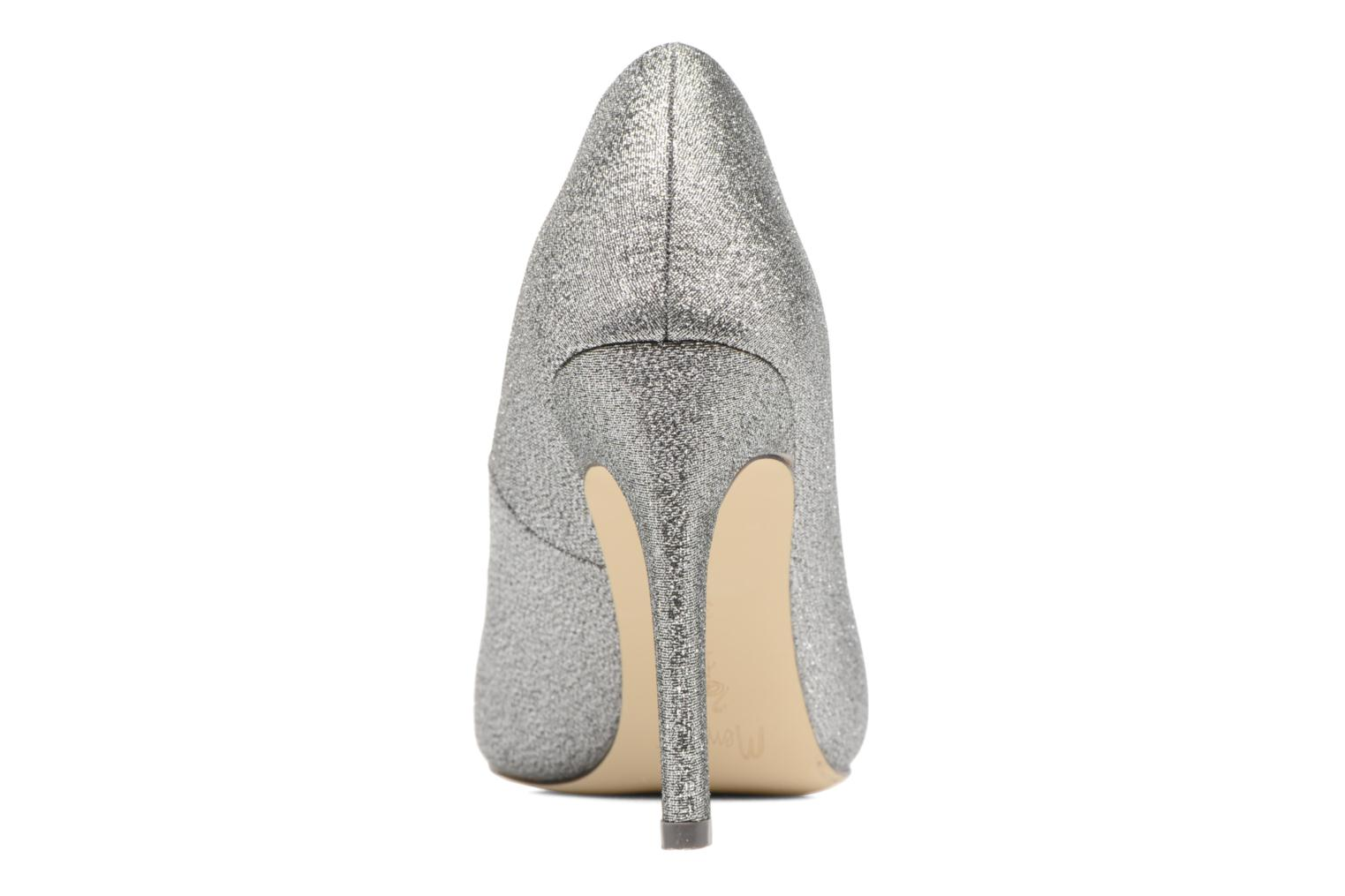 High heels Menbur Servier Silver view from the right