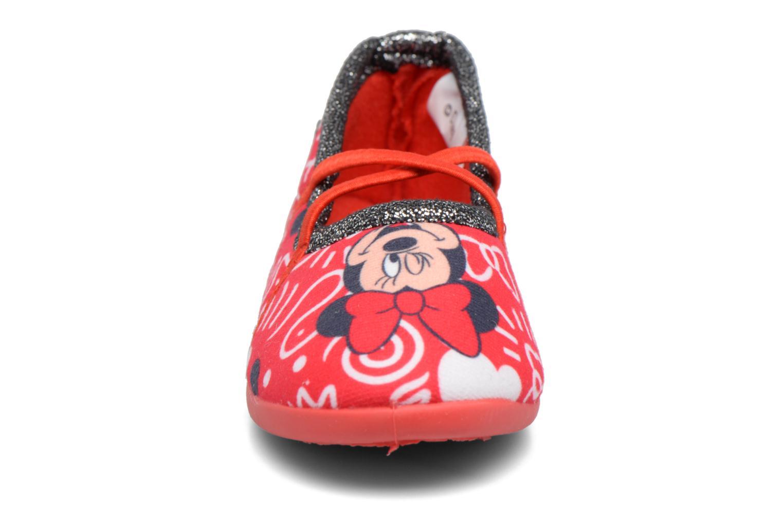 Chaussons Minnie Salanque Minnie Rouge vue portées chaussures