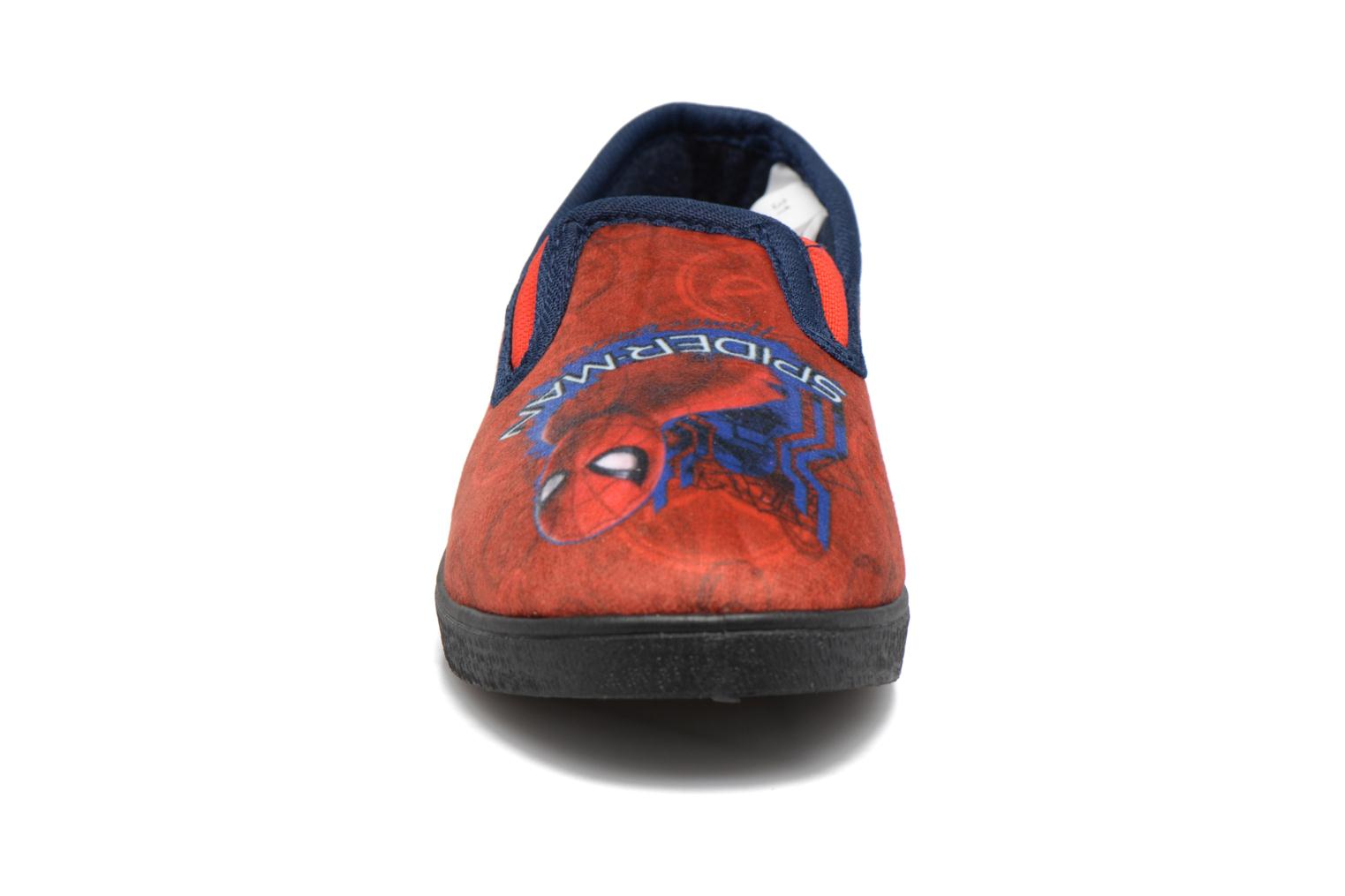 Chaussons Spiderman Spencer Rouge vue portées chaussures
