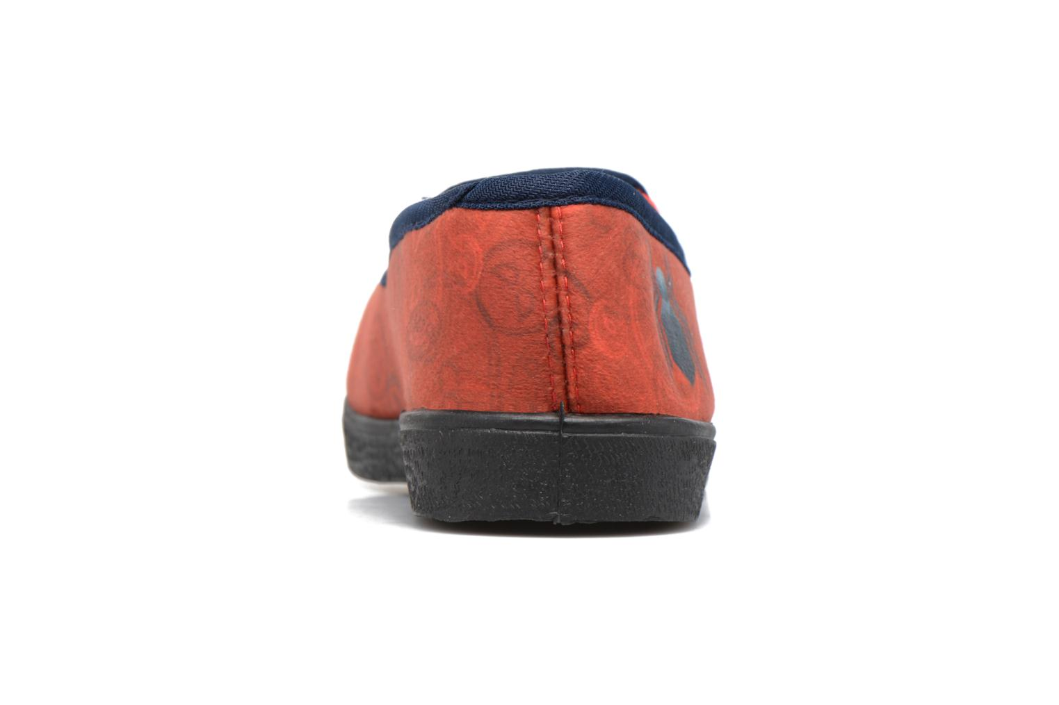 Chaussons Spiderman Spencer Rouge vue droite
