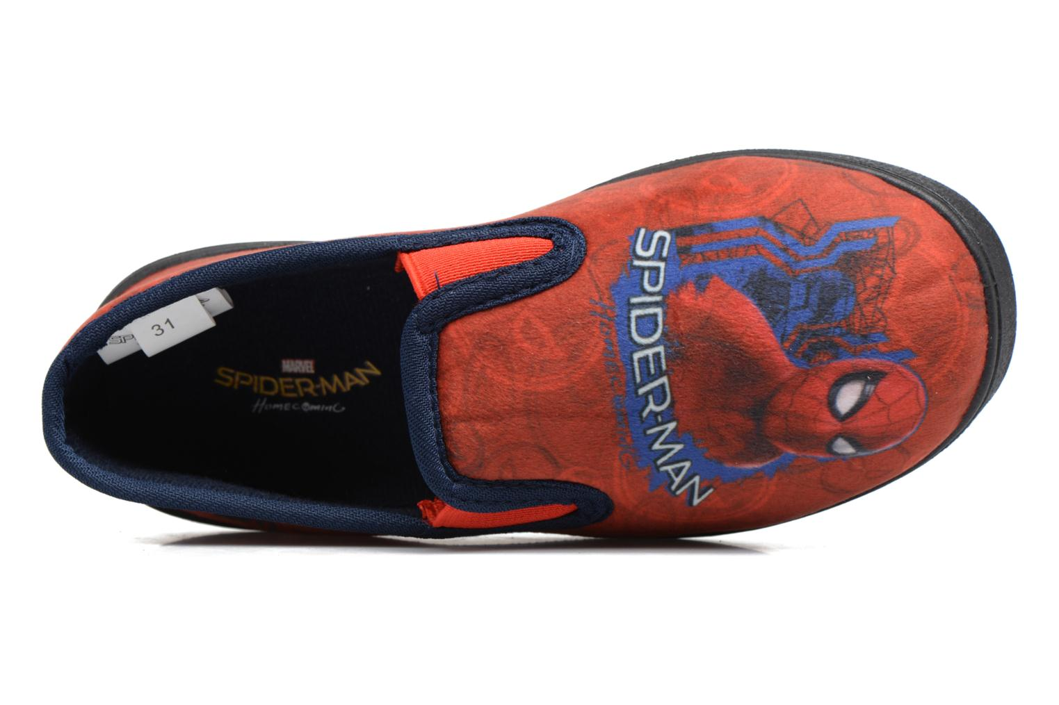 Chaussons Spiderman Spencer Rouge vue gauche