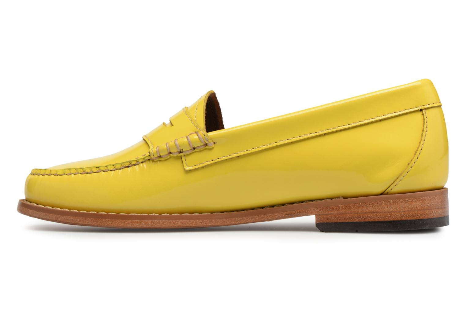 Mocasines G.H. Bass Weejun WMN Penny Wheel Amarillo vista de frente