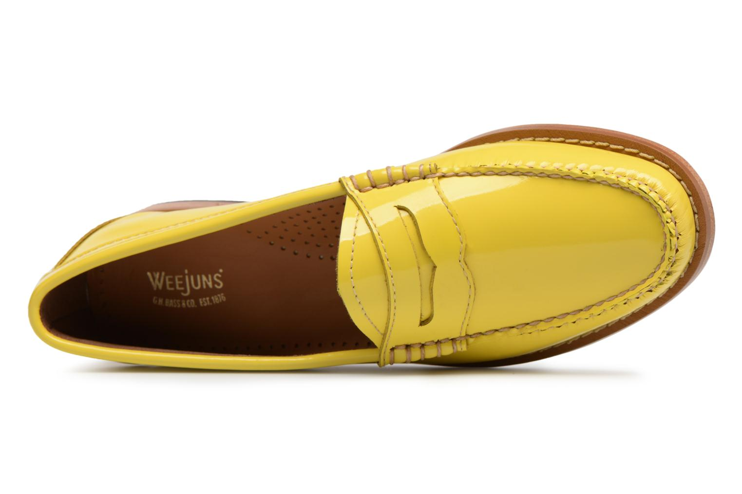 Mocasines G.H. Bass Weejun WMN Penny Wheel Amarillo vista lateral izquierda