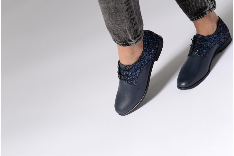 Zapatos con cordones Georgia Rose Louma Negro vista de abajo