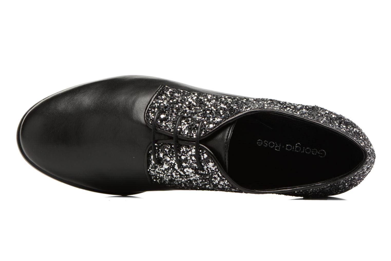 Zapatos con cordones Georgia Rose Louma Negro vista lateral izquierda