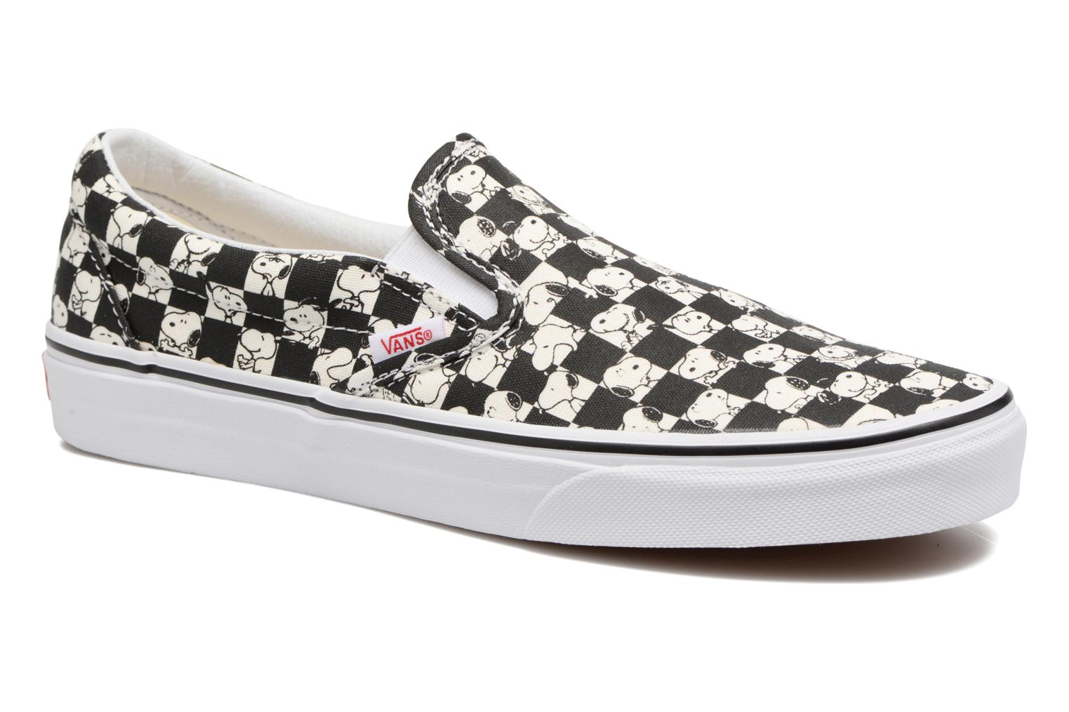 Snoopy/checkerboard Vans Classic Slip-On x Peanuts (Noir)