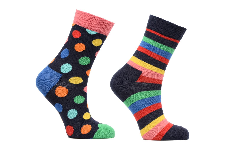 Strømper og tights Happy Socks Lot de 2 Chaussettes Stripe Kids Multi detaljeret billede af skoene