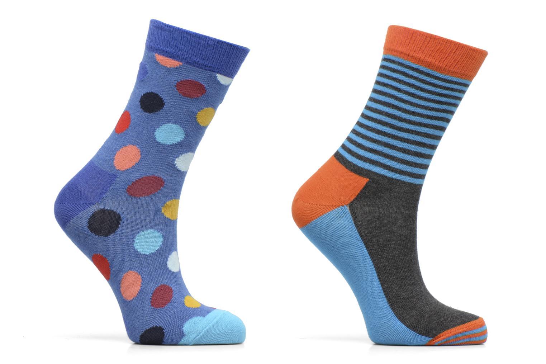 Chaussettes et collants Happy Socks Lot de 2 Chaussettes Big Dot Kids Bleu vue détail/paire