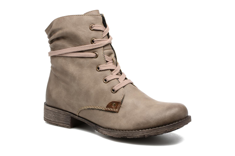 Ankelstøvler Rieker Barbara 70829 Beige detaljeret billede af skoene