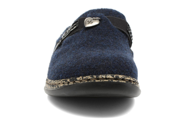 Chaussons Rieker Marg 46300 Bleu vue portées chaussures