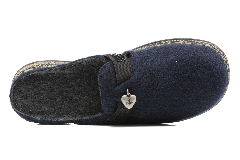 Chaussons Rieker Marg 46300 Bleu vue gauche