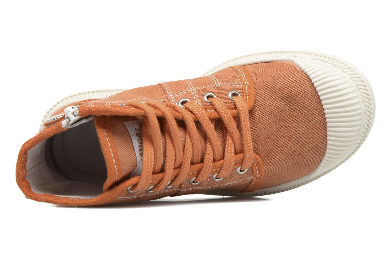 Baskets Pataugas AUTHEN/AUTHEN/T Orange vue gauche
