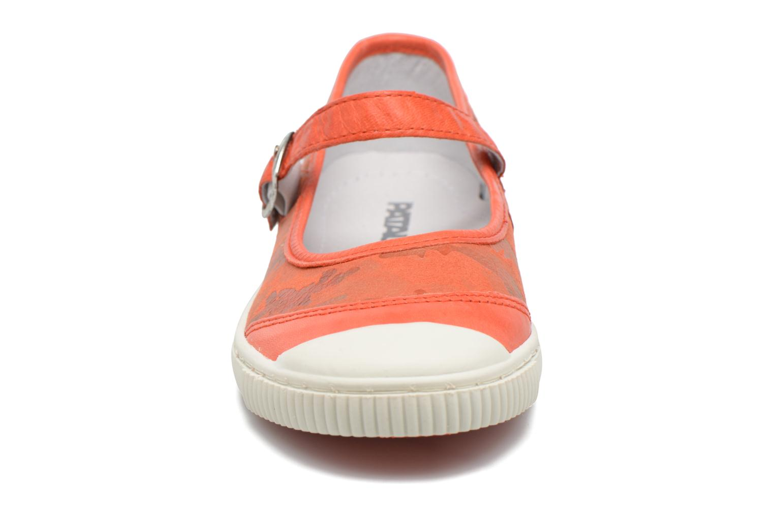 Ballerines Pataugas BOOST/BOWLING/I Rouge vue portées chaussures