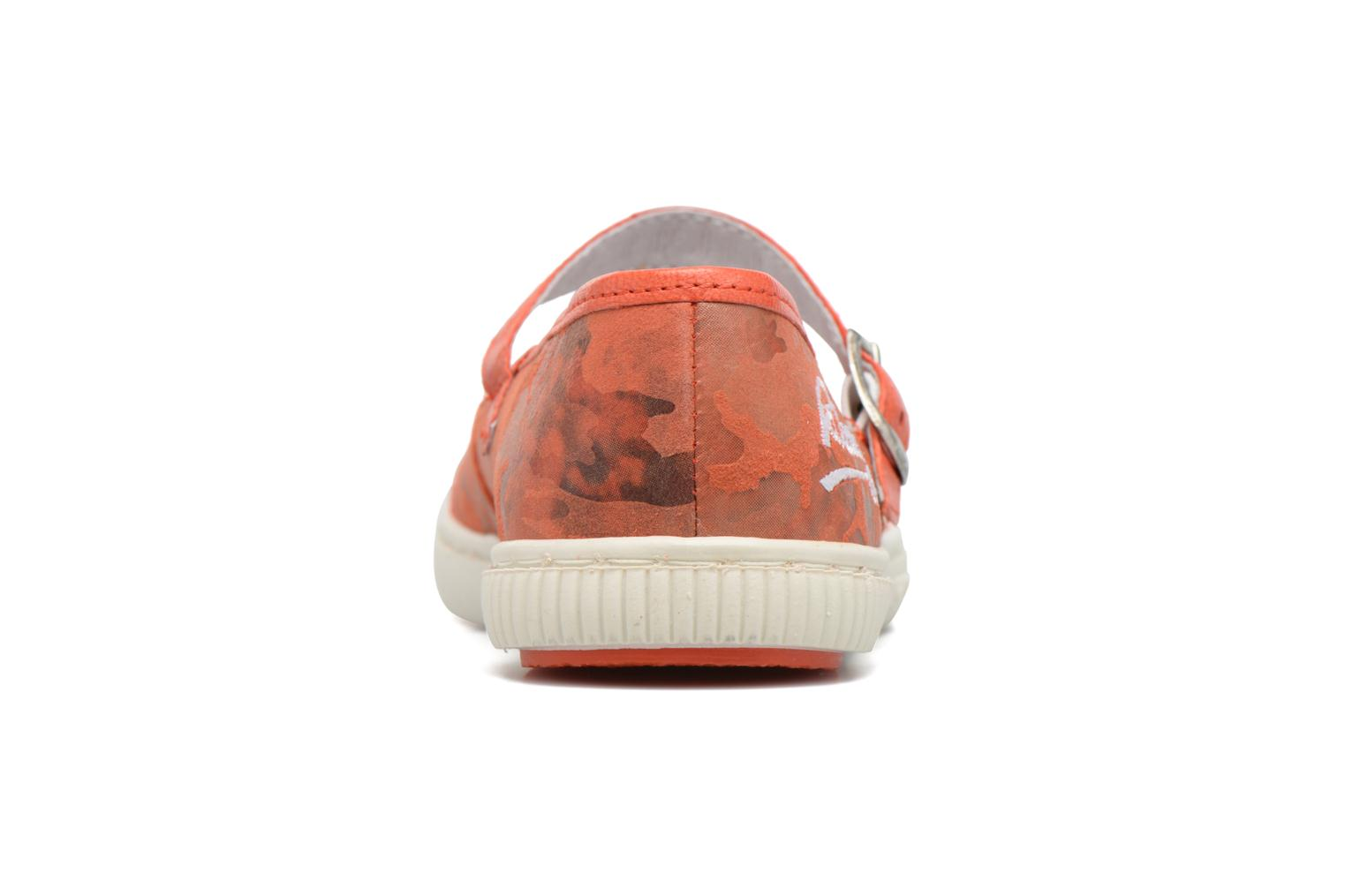 Ballerines Pataugas BOOST/BOWLING/I Rouge vue droite