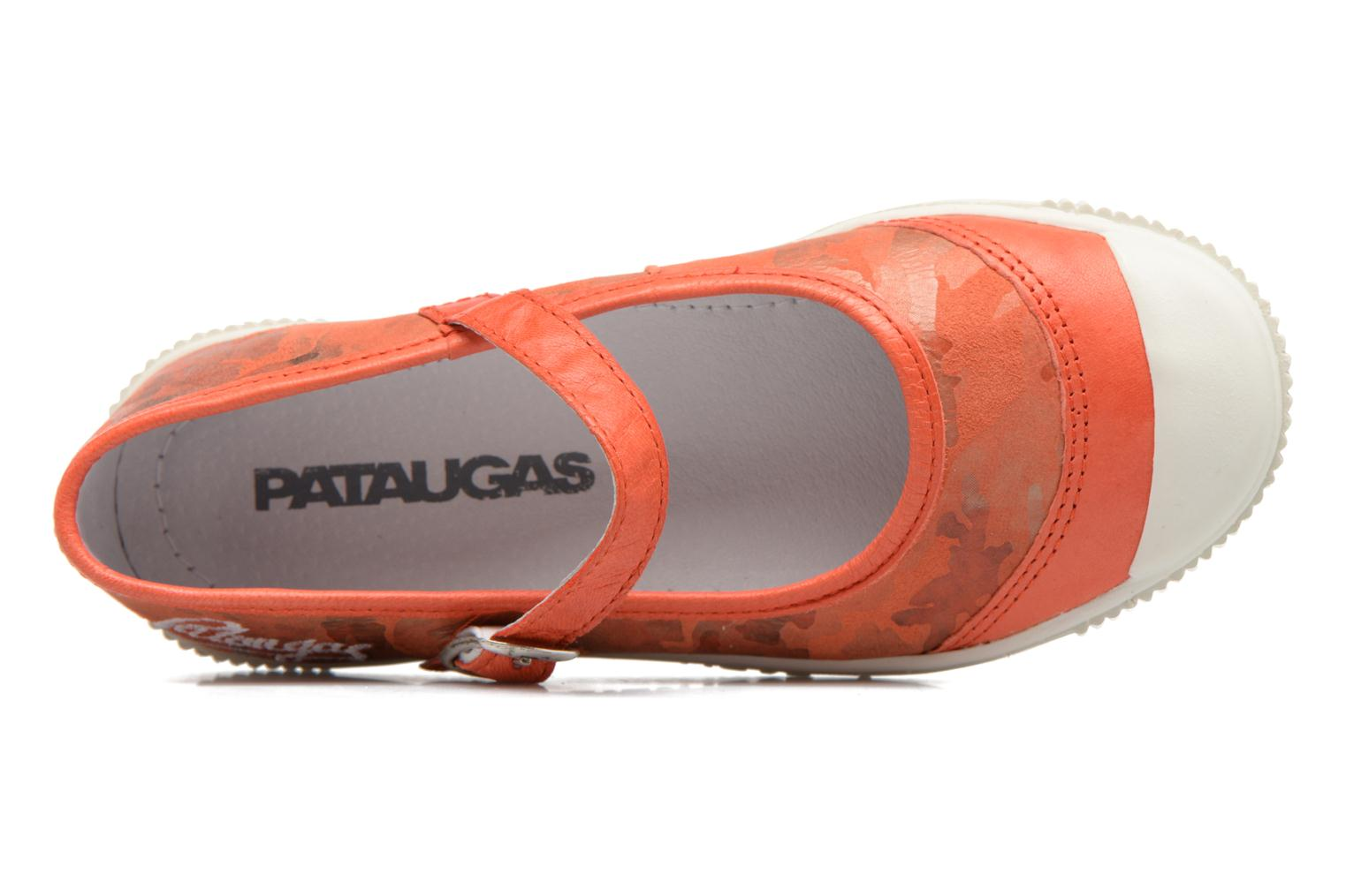 Ballerines Pataugas BOOST/BOWLING/I Rouge vue gauche