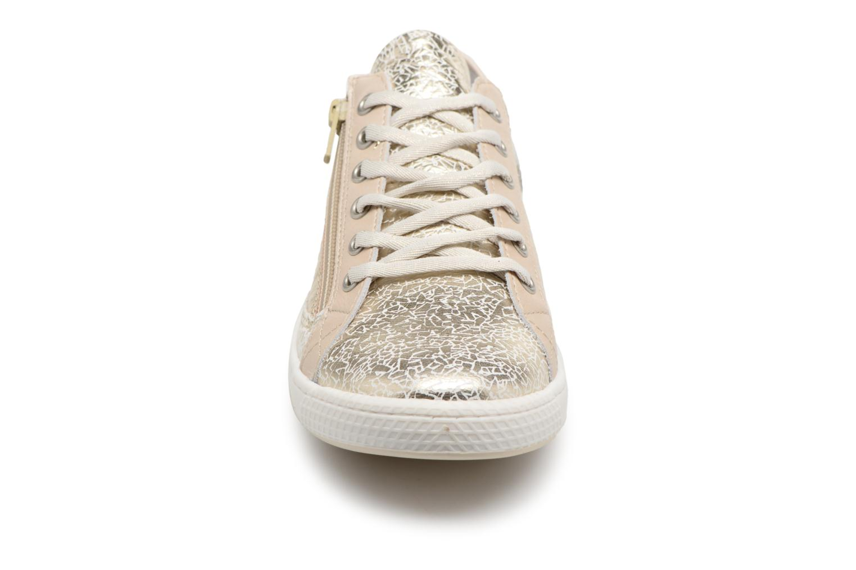 Sneakers Pataugas JESTER M Oro e bronzo modello indossato