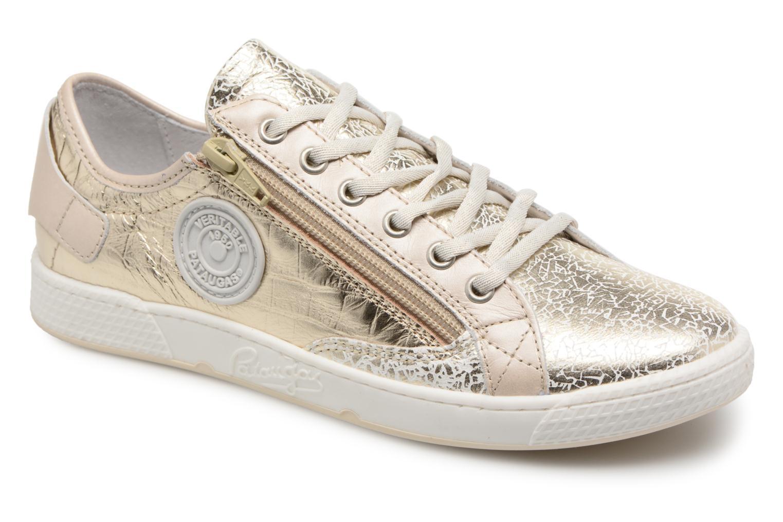 Sneakers Pataugas JESTER M Bronze och Guld detaljerad bild på paret