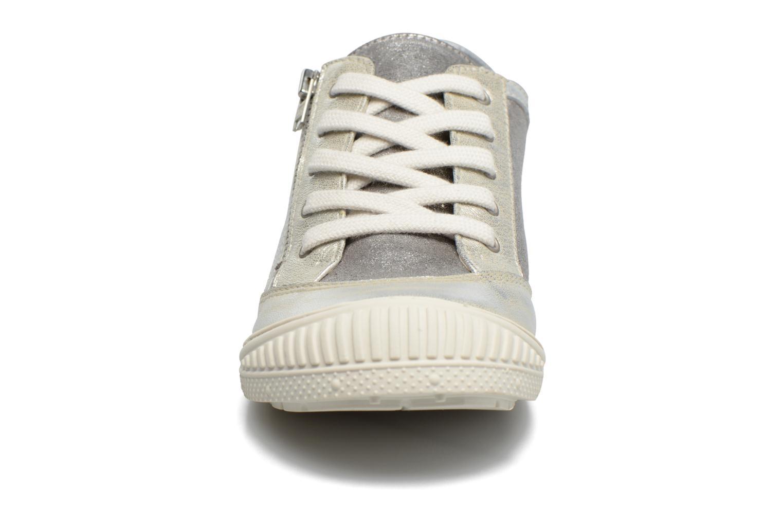 Baskets Pataugas RAP J Argent vue portées chaussures