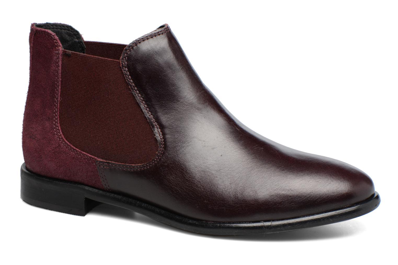 Ankelstøvler Georgia Rose Lavole Bordeaux detaljeret billede af skoene