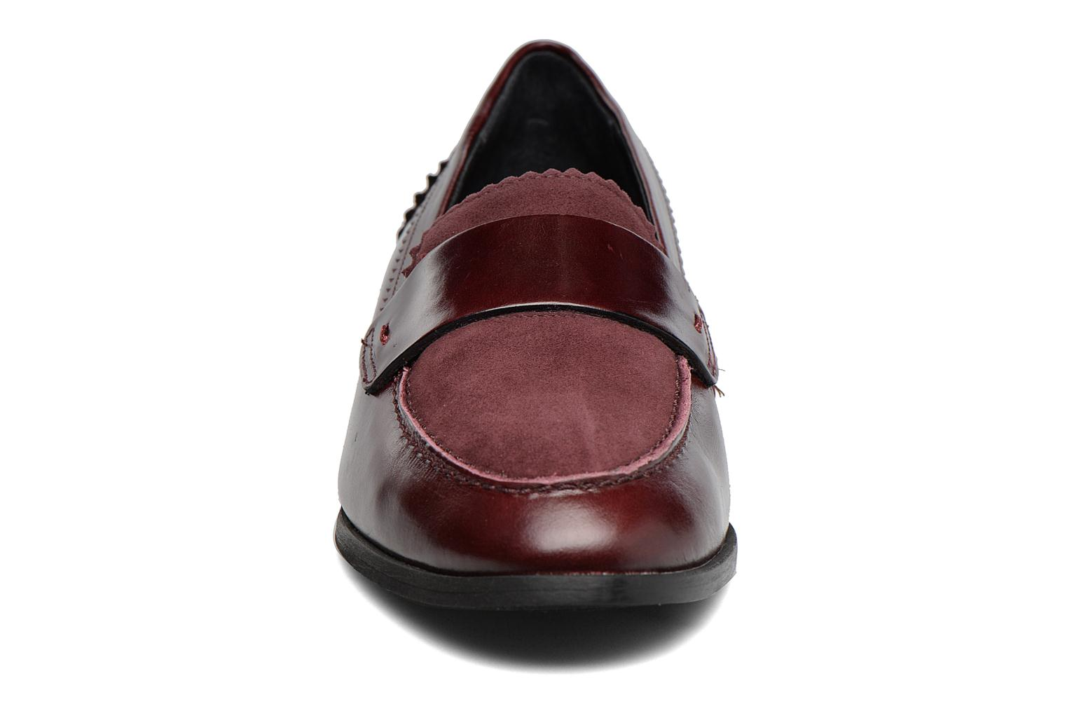 Loafers Georgia Rose Lesly Burgundy model view