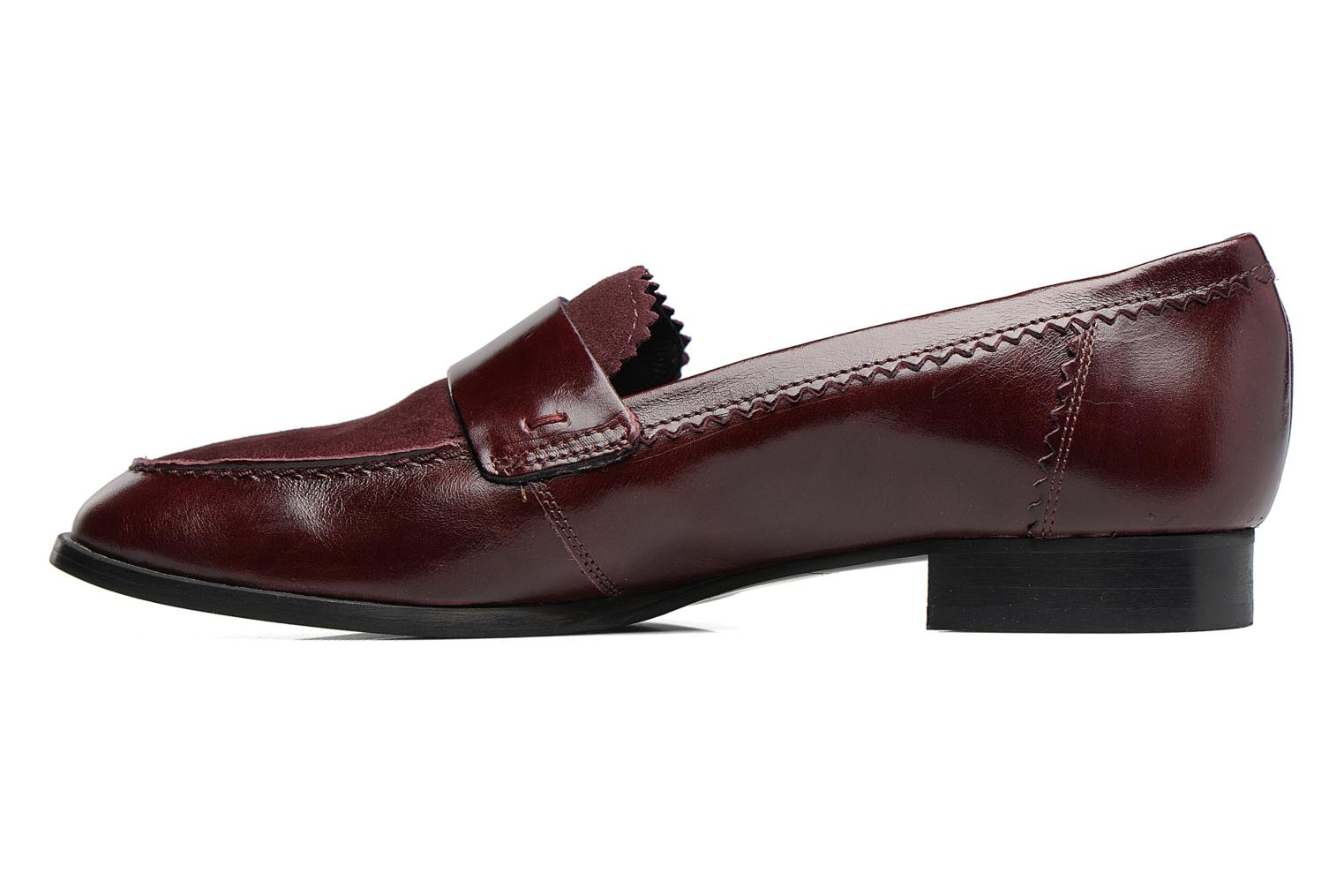 Loafers Georgia Rose Lesly Burgundy front view
