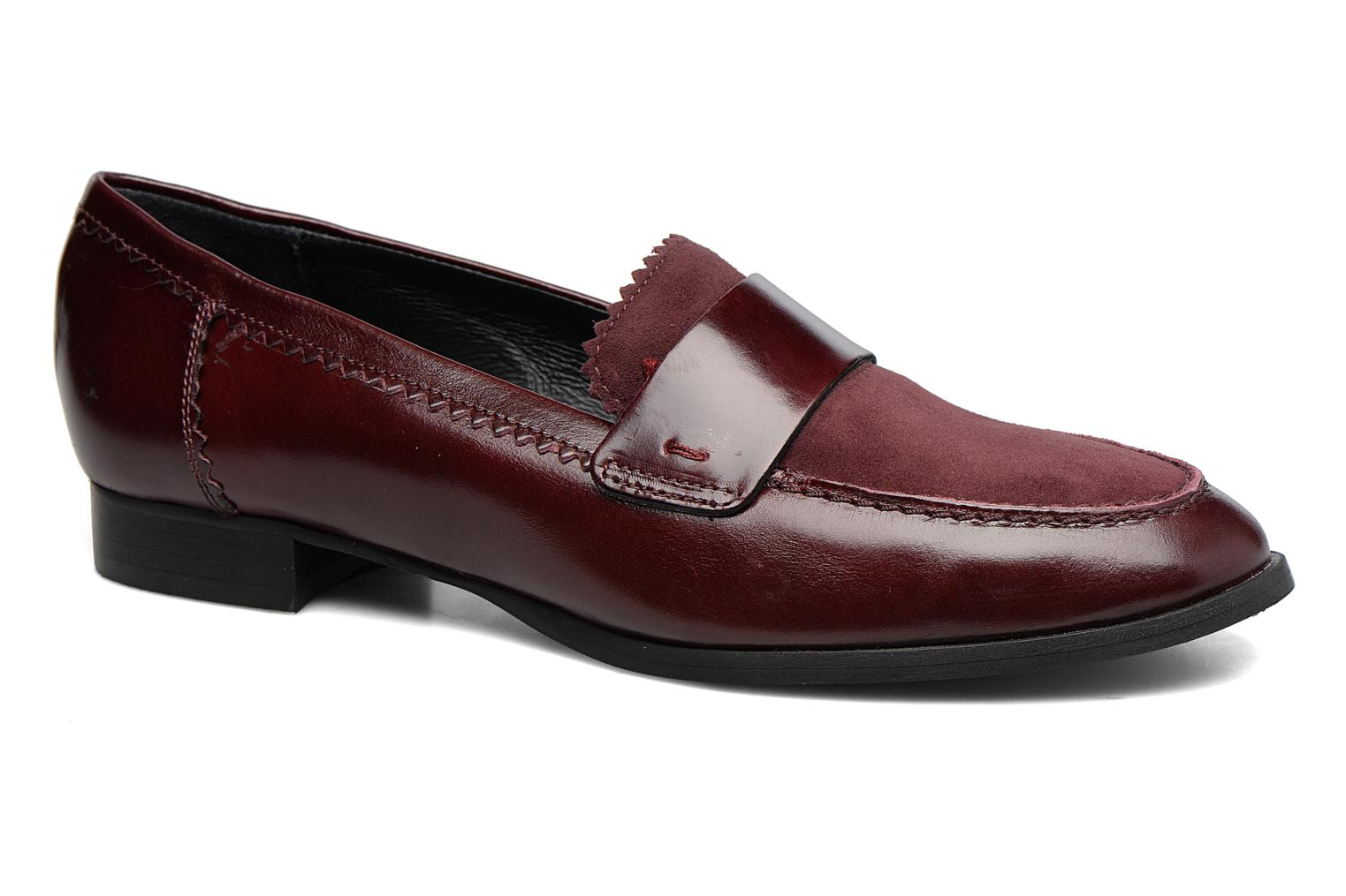 Loafers Georgia Rose Lesly Burgundy detailed view/ Pair view