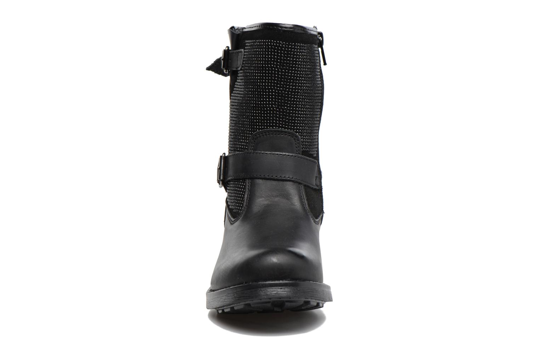 Stiefel Melania STIVALE FIBBIE schwarz schuhe getragen