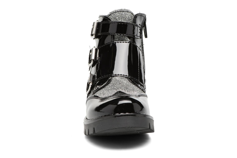 Bottes Melania TRONCHETTO FIBBIE Noir vue portées chaussures