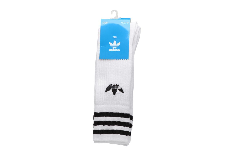 Calze e collant Adidas Performance SOLID CREW SOCK Bianco modello indossato