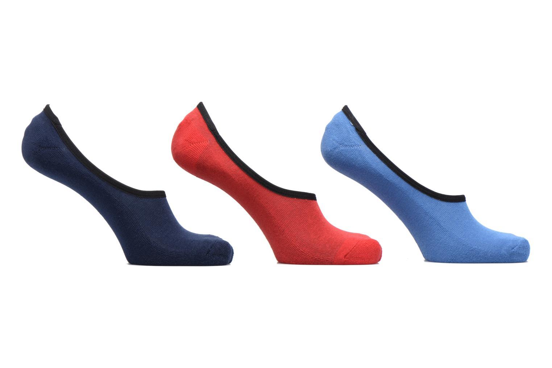 Chaussettes et collants Vans CLASSIC SUPER NO SHOW LOT DE 3 Bleu vue détail/paire