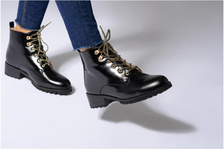 Bottines et boots Mellow Yellow Calouise Noir vue bas / vue portée sac