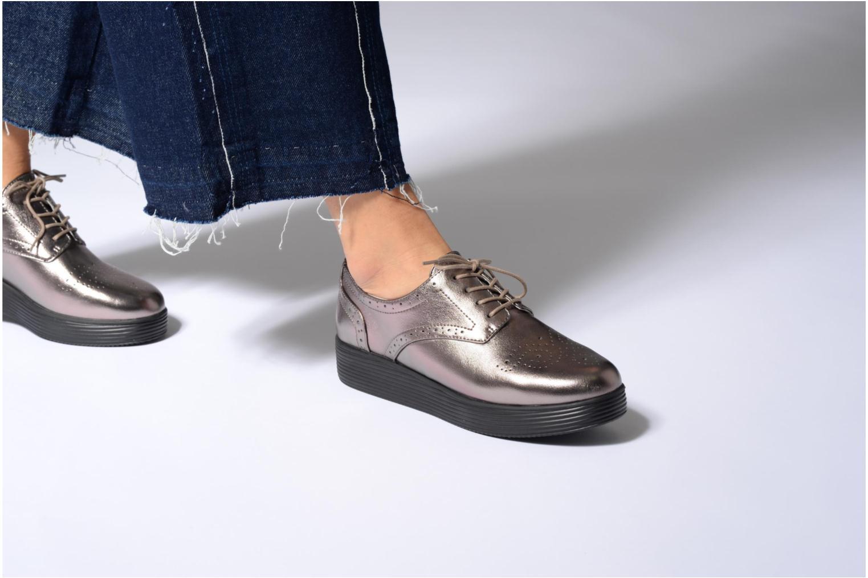 Chaussures à lacets Mellow Yellow Clanary Or et bronze vue bas / vue portée sac