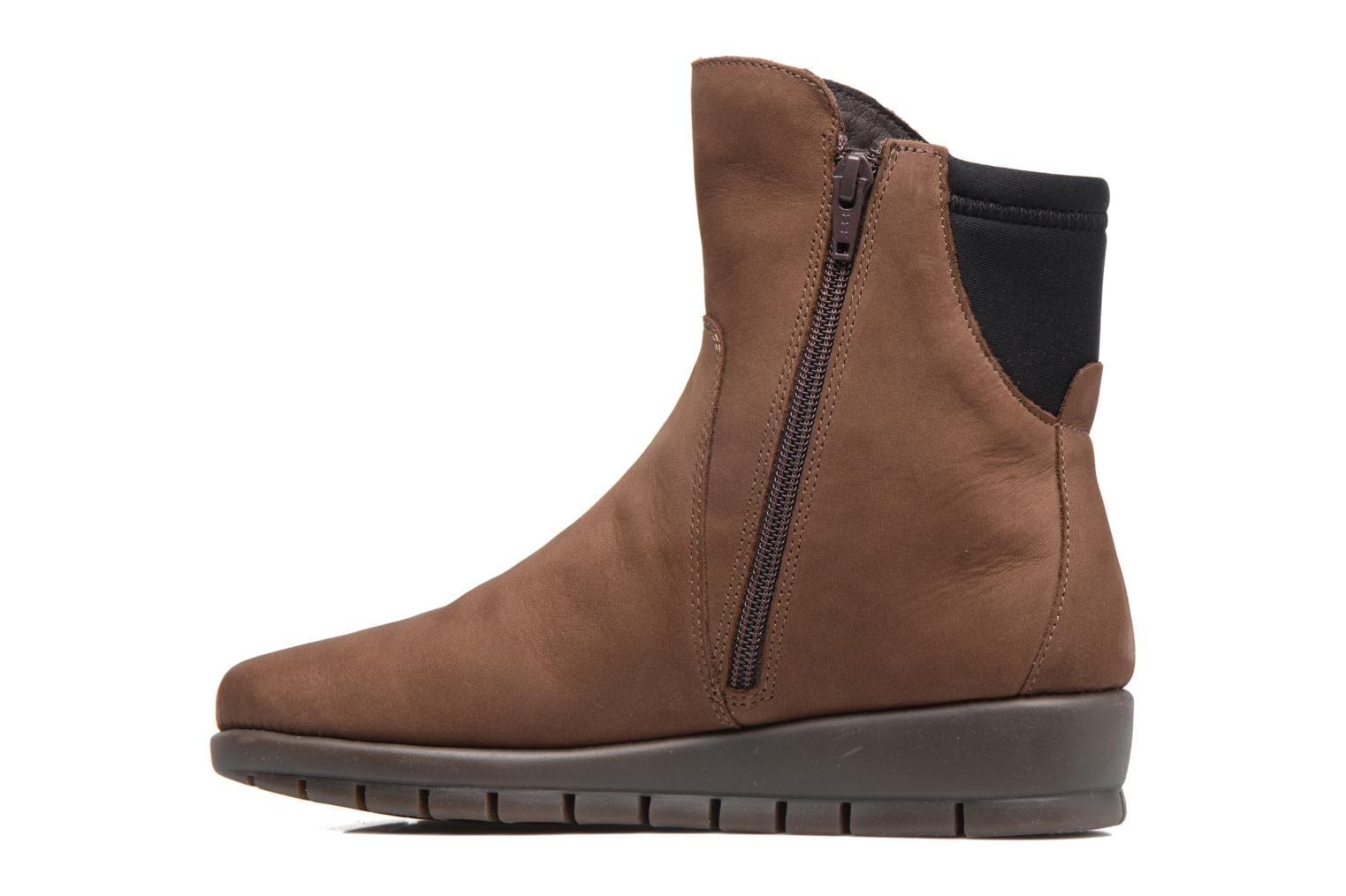 Ankle boots Aerosoles New Moves Brown front view