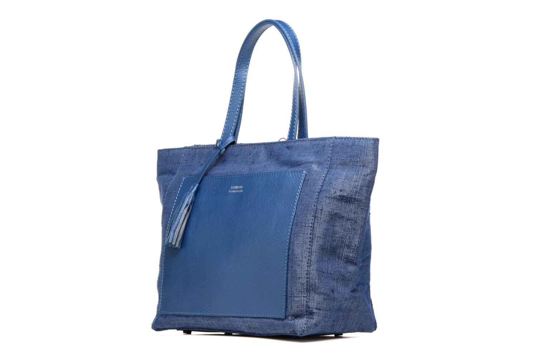 Sacs à main Loxwood Cabas Parisien Gm Poche Bleu vue portées chaussures