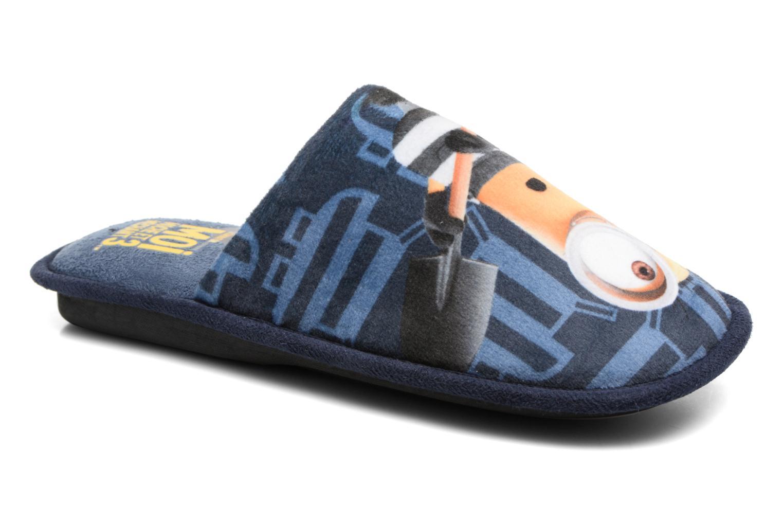 Chaussons Minions Sting Bleu vue détail/paire
