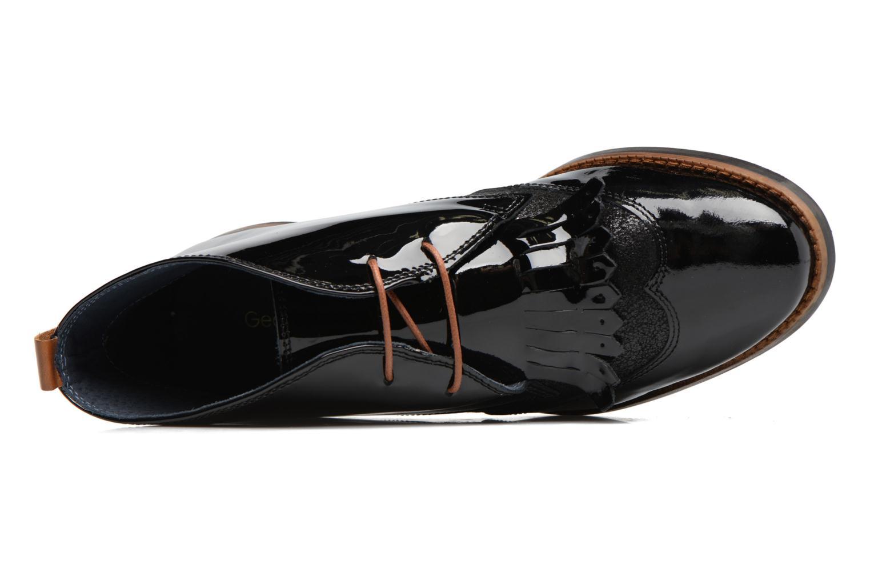 Chaussures à lacets Georgia Rose Nougat Noir vue gauche