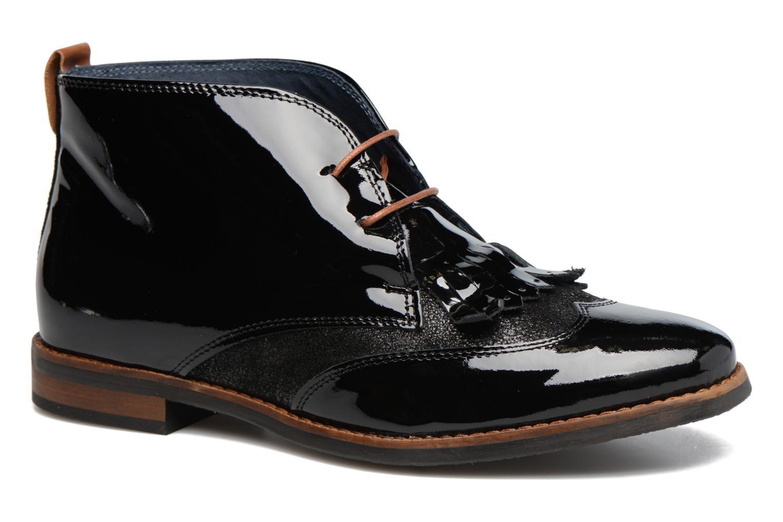 Snøresko Georgia Rose Nougat Sort detaljeret billede af skoene