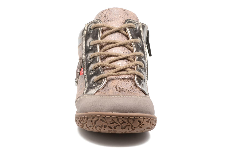 Baskets NA! Acapulce Beige vue portées chaussures