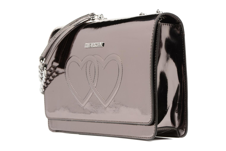 Bolsos de mano Love Moschino Porté épaule Metalic Embossed and Hearts Oro y bronce vista del modelo